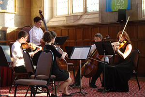 International Classical Chamber Music Camp Program at PIMF chamber music master classes - performance preparation bowings articulation musicianship intonation concepts