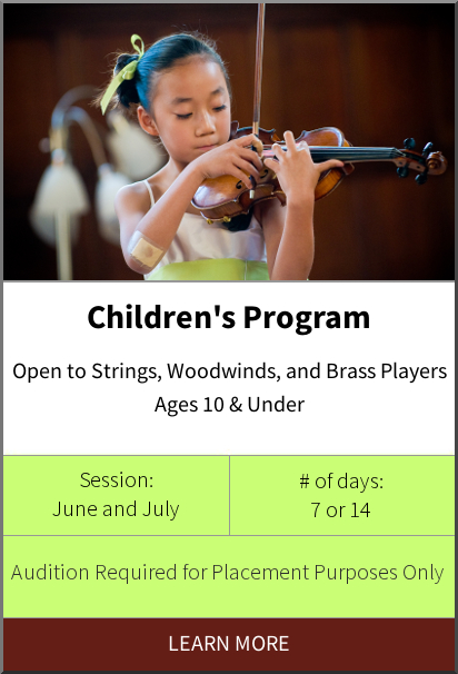 Philadelphia International Music Camp & Festival - Childrens Program