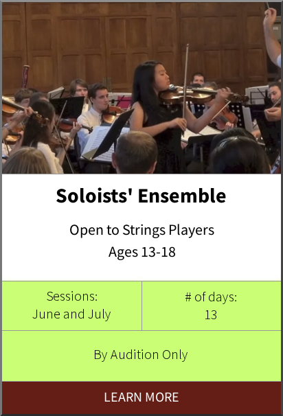 Philadelphia International Music Camp & Festival - Soloists Ensemble Program