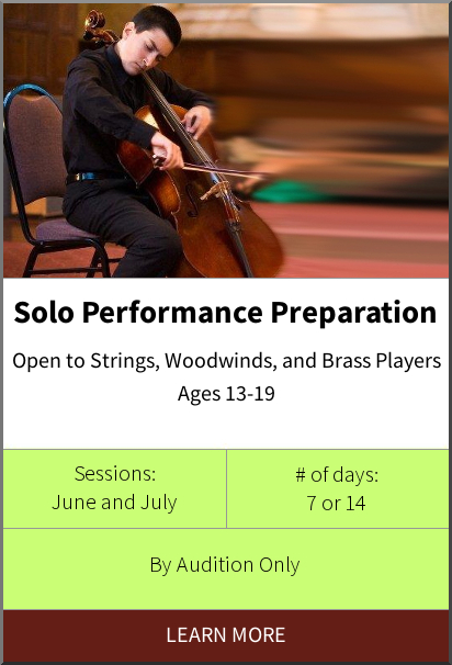 Philadelphia International Music Camp & Festival - Solo Performance Preparation Program