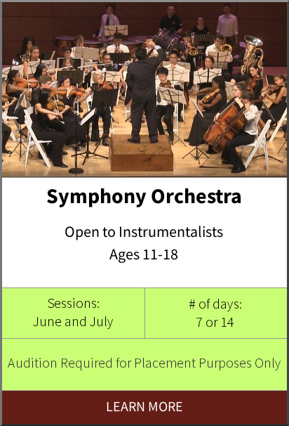Philadelphia International Music Camp & Festival - Symphony Orchestra Program