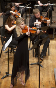 Violinist Madison Day performing with the Southeastern Symphony Orchestra