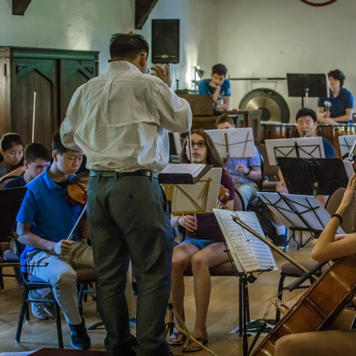 Summer Camp Orchestra Rehearsal